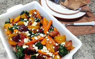 Roasted Beet and Carrot Salad with Feta